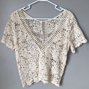 full lace NASTY GAL top